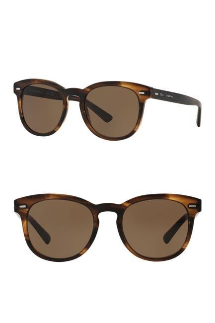 Image of Dolce & Gabbana Retro Round 51mm Sunglasses
