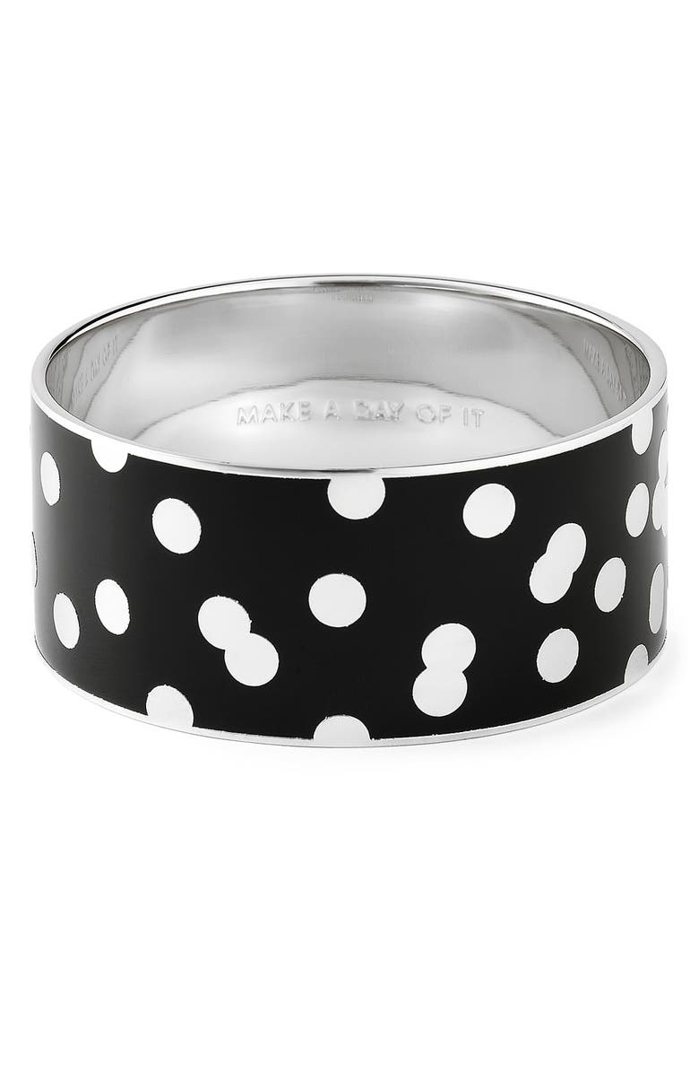 KATE SPADE NEW YORK 'idiom' wide enamel bangle, Main, color, 001