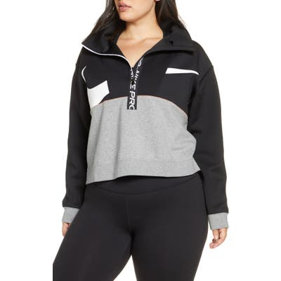 Plus Size Nike Pro Dri-Fit Fleece Half-Zip Pullover, Black