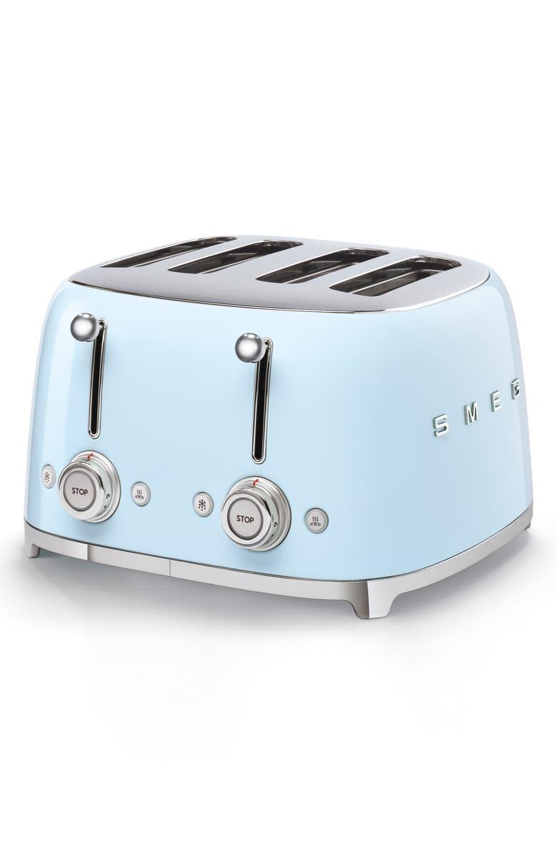 SMEG '50s Retro Style 4-Slice Toaster, Main, color, PASTEL BLUE