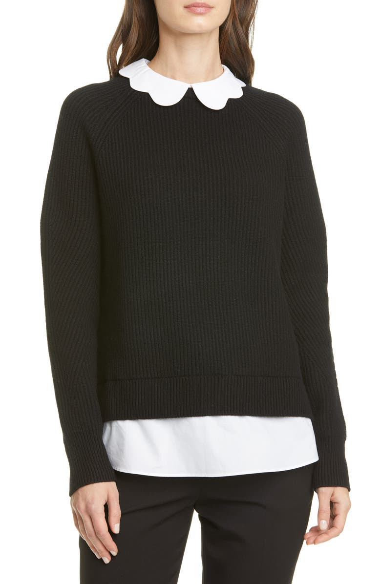 TED BAKER LONDON Chunky Mockable Sweater, Main, color, 001