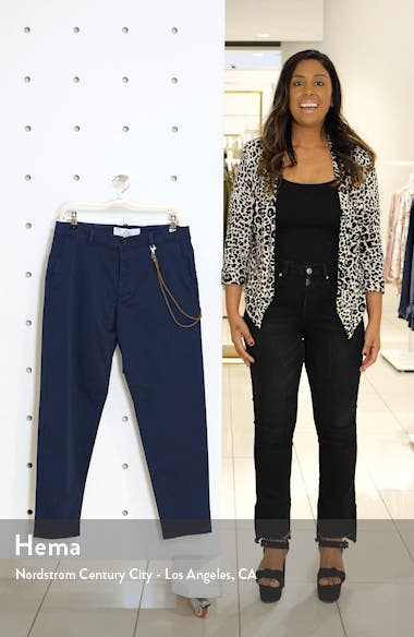 Slim Fit Dress Pants With Cord Chain, sales video thumbnail