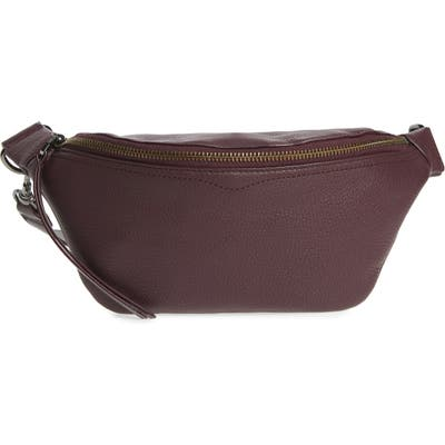 Rebecca Minkoff Bree Leather Belt Bag - Burgundy