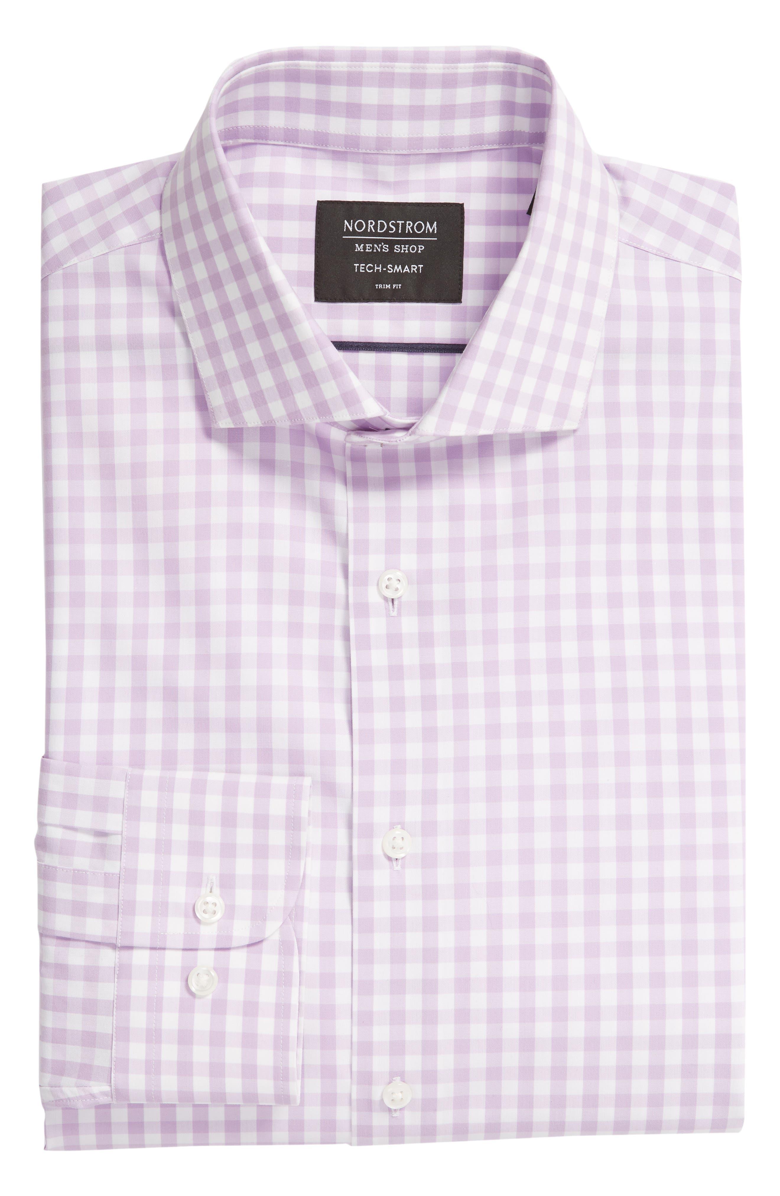 ,                             Tech-Smart Trim Fit Stretch Check Dress Shirt,                             Alternate thumbnail 49, color,                             530