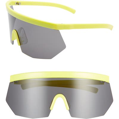 Rad + Refined Retro Shield Sunglasses - Yellow/ Black Lens