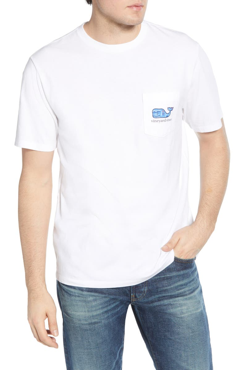 VINEYARD VINES Scene Graphic Pocket T-Shirt, Main, color, WHITE CAP