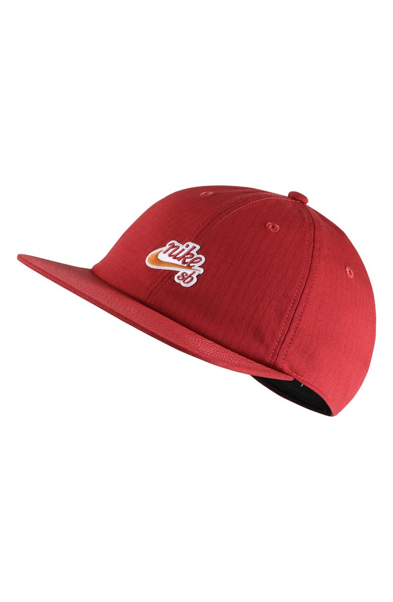 NIKE SB Dry Flatbill Cap, Main, color, TEAM CRIMSON