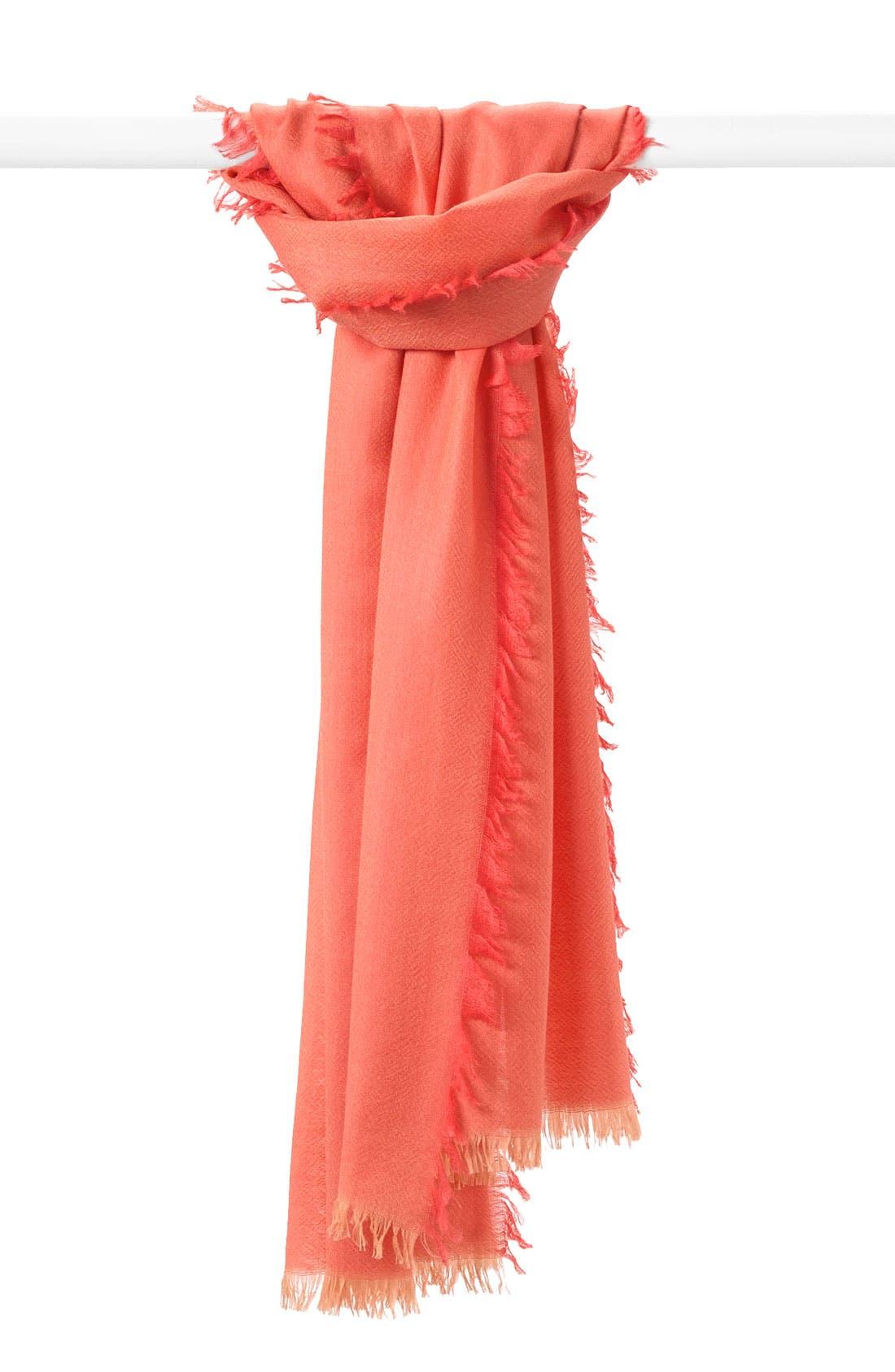 ,                             'Eyelash' Colorblock Cashmere Wrap,                             Main thumbnail 115, color,                             953