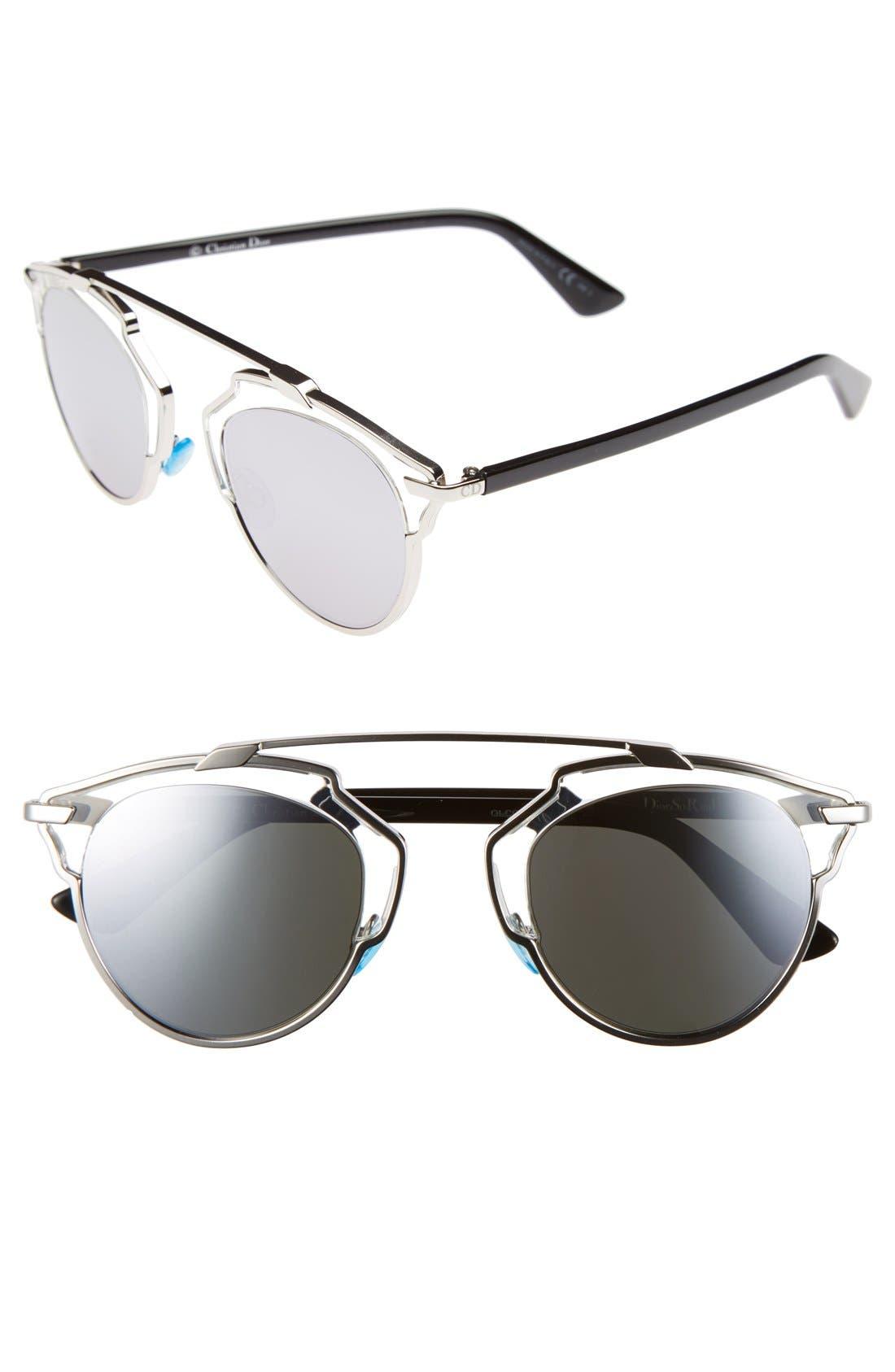 ,                             So Real 48mm Brow Bar Sunglasses,                             Main thumbnail 25, color,                             040