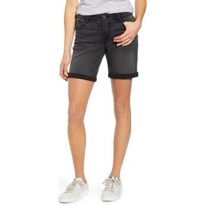 Wit & Wisdom Ab-Solution White Denim Shorts, 8 (similar to 1) - Black (Regular & Petite) (Nordstrom Exclusive)
