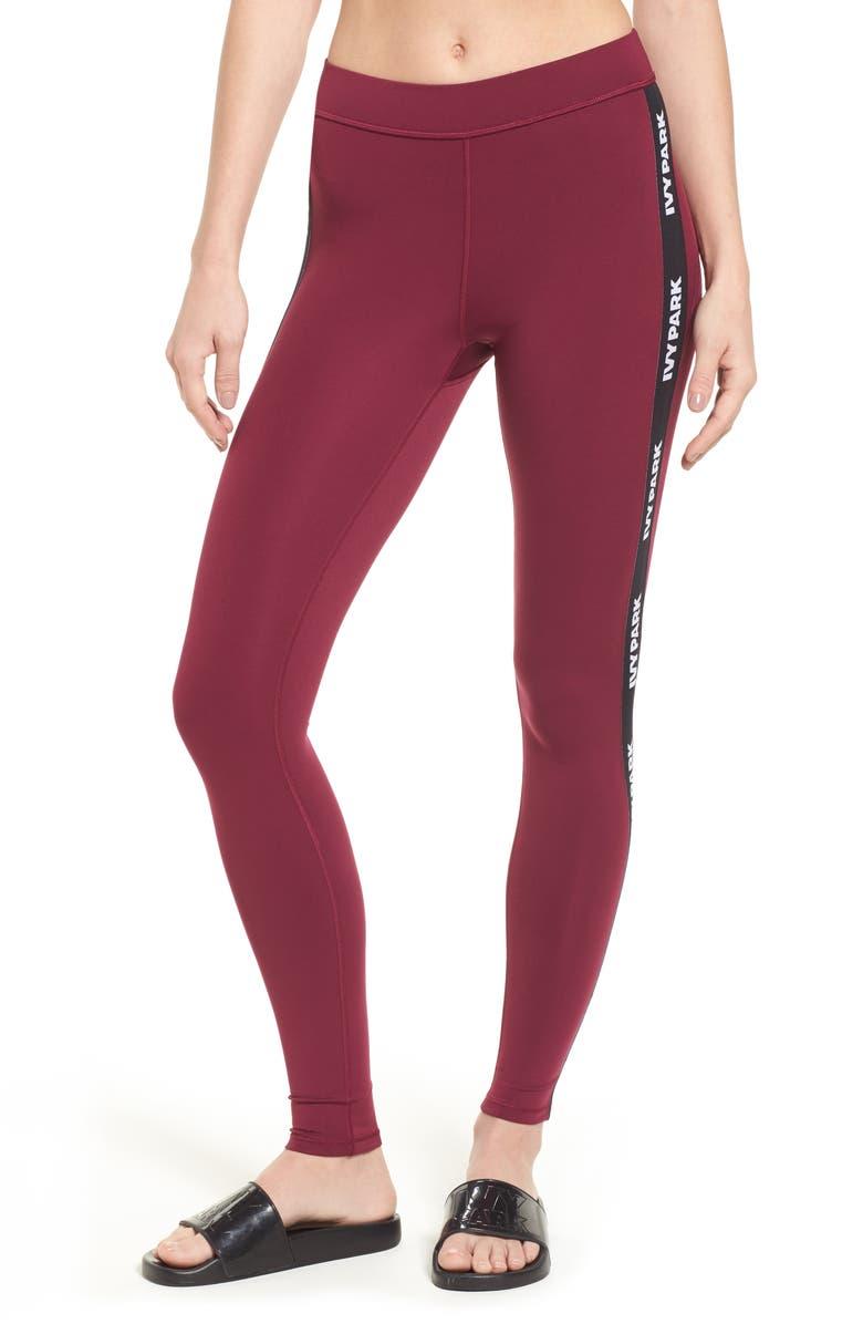 IVY PARK<SUP>®</SUP> Elastic Logo Mid Rise Leggings, Main, color, 500