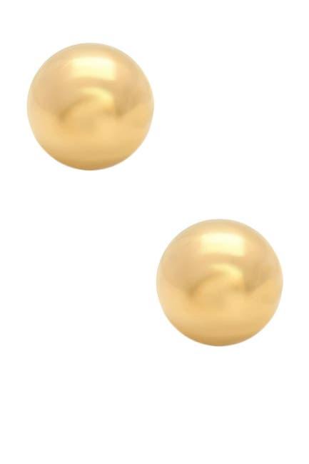 Image of KARAT RUSH 14K Yellow Gold 6mm Ball Stud Earrings