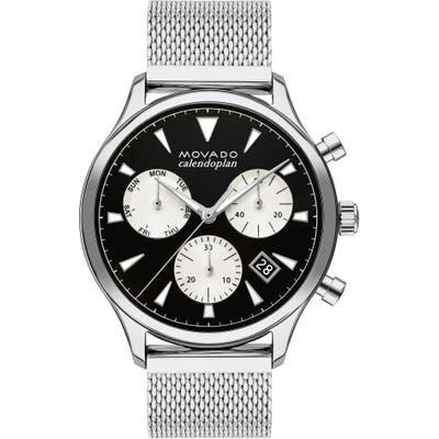 Movado Heritage Calendoplan Chronograph Bracelet Watch, 4m