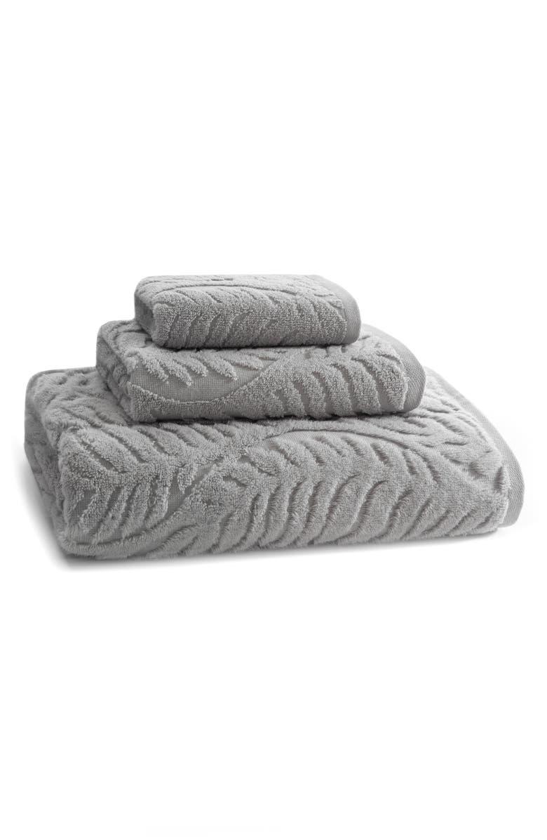KASSATEX Palma Wash Towel, Main, color, FOG GREY