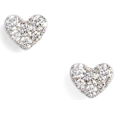 Bony Levy Diamond Pave Heart Stud Earrings (Nordstrom Exclusive)