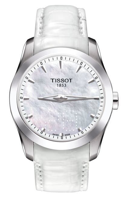 Image of Tissot Women's Couturier Leather Strap Watch, 33mm
