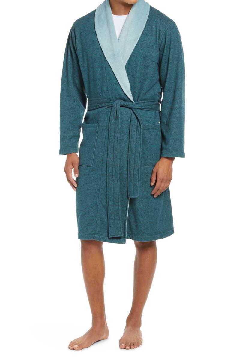 UGG<SUP>®</SUP> Robinson Robe, Main, color, SCUBA BLUE HEATHER