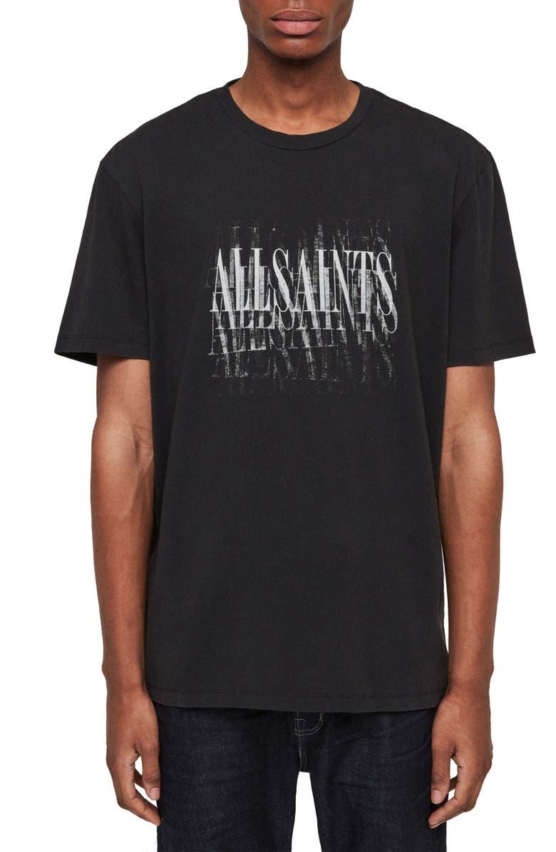 ALLSAINTS Imprint Slim Fit Graphic T-Shirt, Main, color, 003
