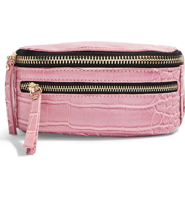 TOPSHOP Bliss Bumbag, Main, color, PINK