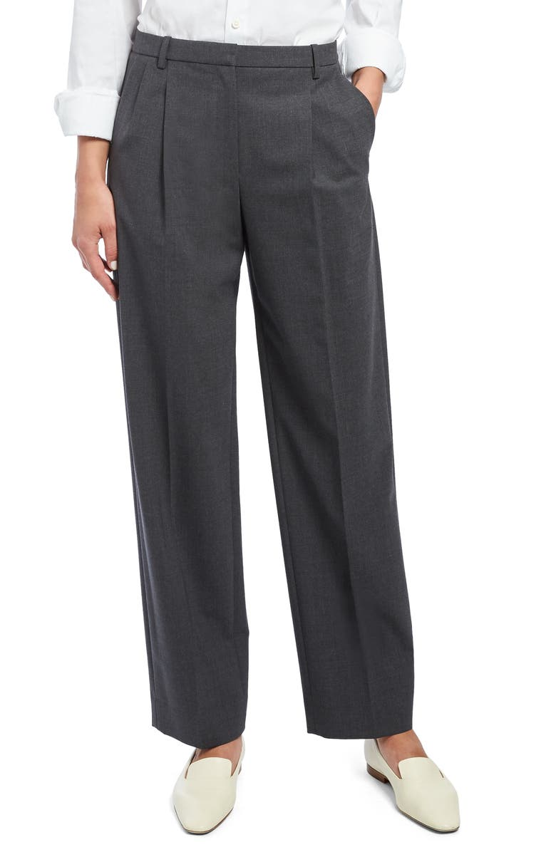 THEORY Trace A2 Stretch Wool Suit Trousers, Main, color, CHARCOAL MELANGE