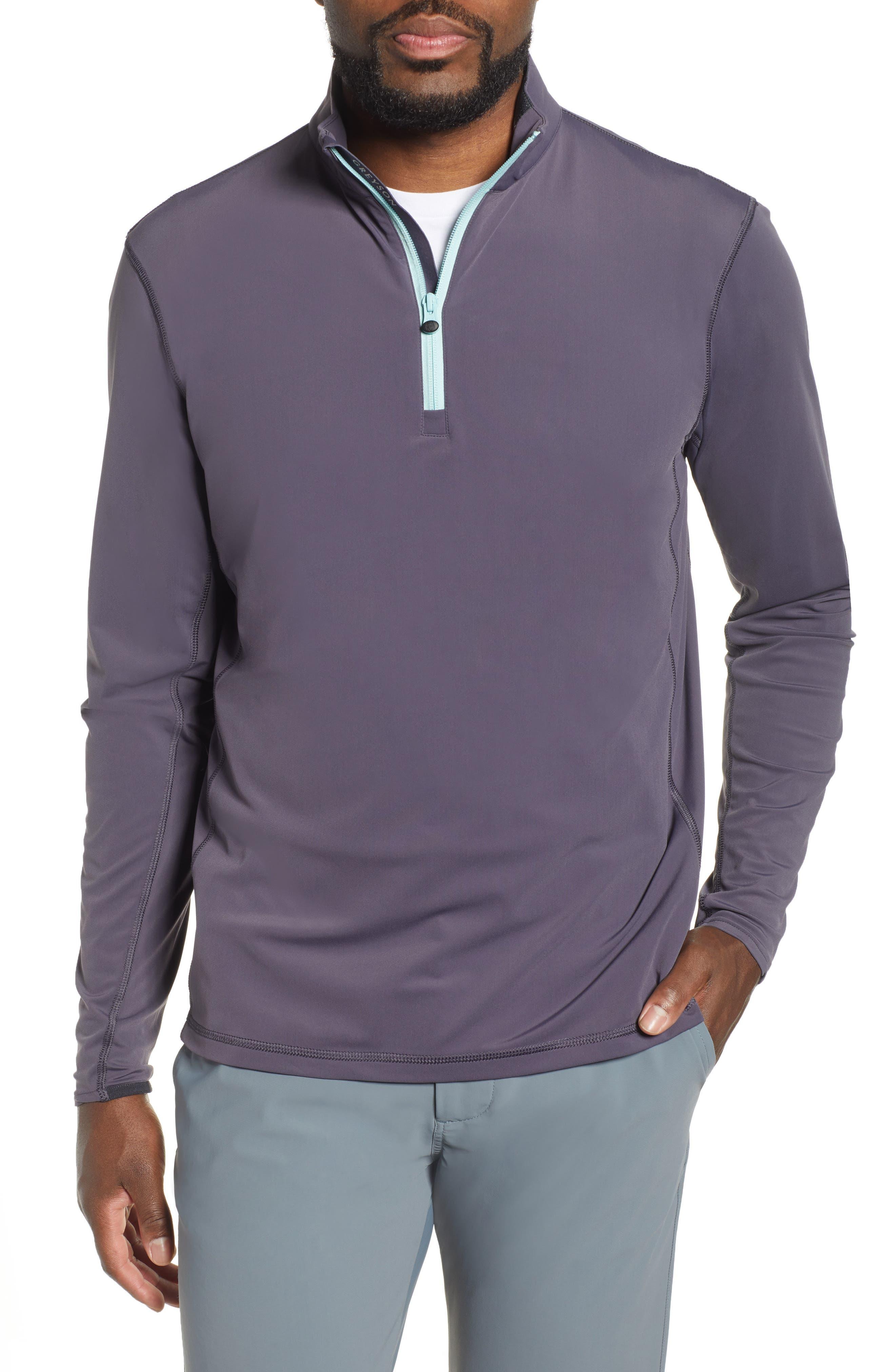 Tate Quarter Zip Pullover, Main, color, EEL