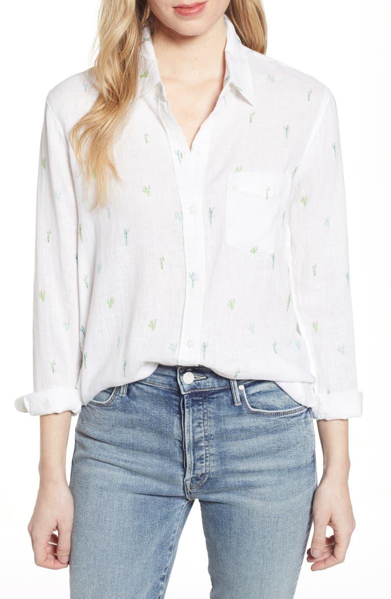RAILS Charli Shirt, Main, color, WHITE WATERCOLOR CACTUS