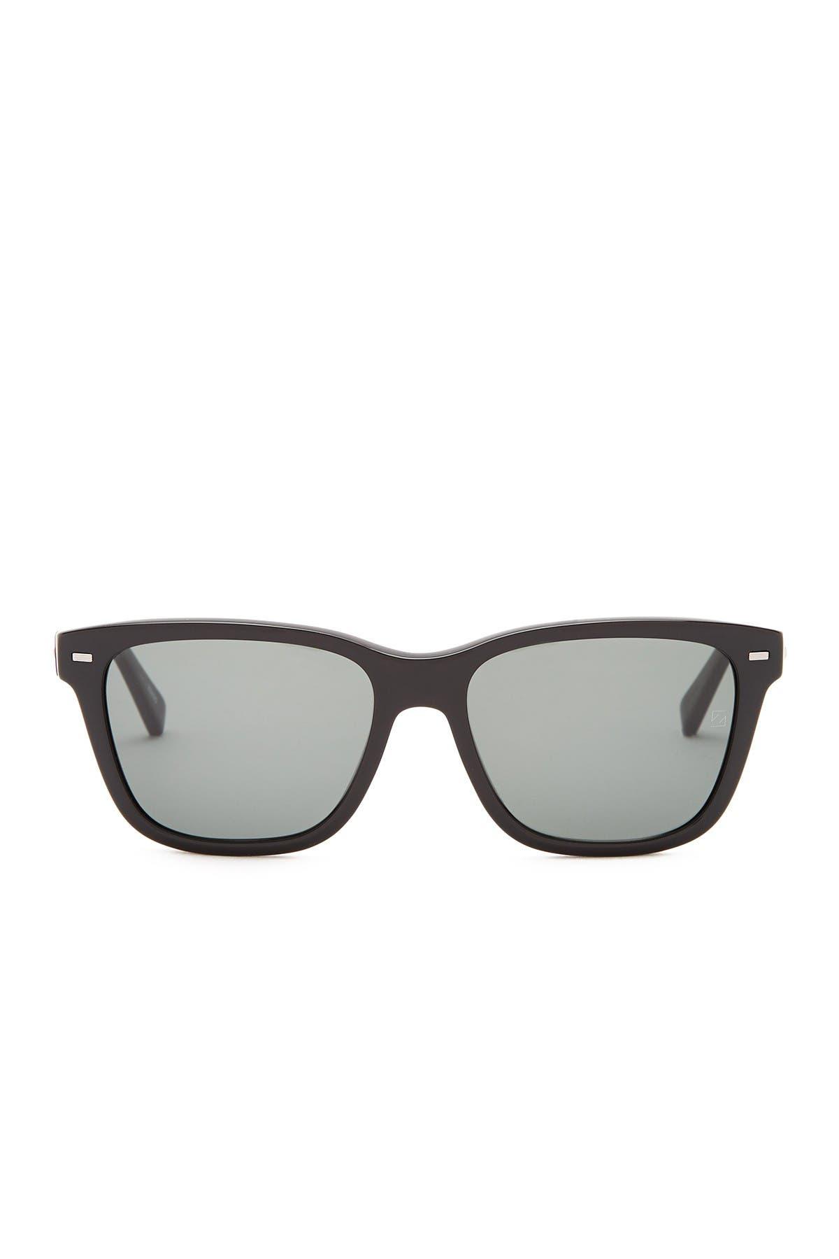 Image of Ermenegildo Zegna 57mm Acetate Sunglasses