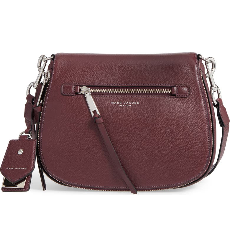 MARC JACOBS Recruit Nomad Pebbled Leather Crossbody Bag, Main, color, 538