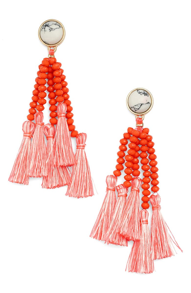 BAUBLEBAR 'Amalfi' Tassel Drop Earrings, Main, color, 710