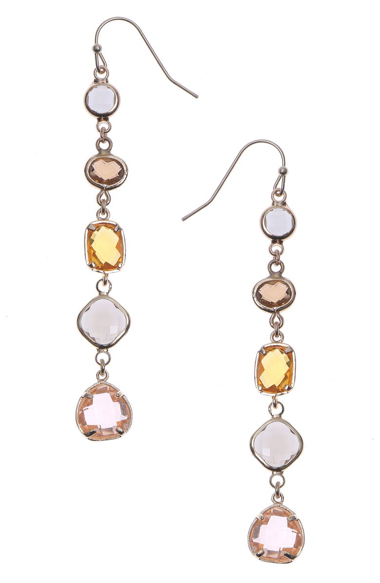 NAKAMOL CHICAGO 5-Stone Drop Earrings, Main, color, SMOKEY MIX