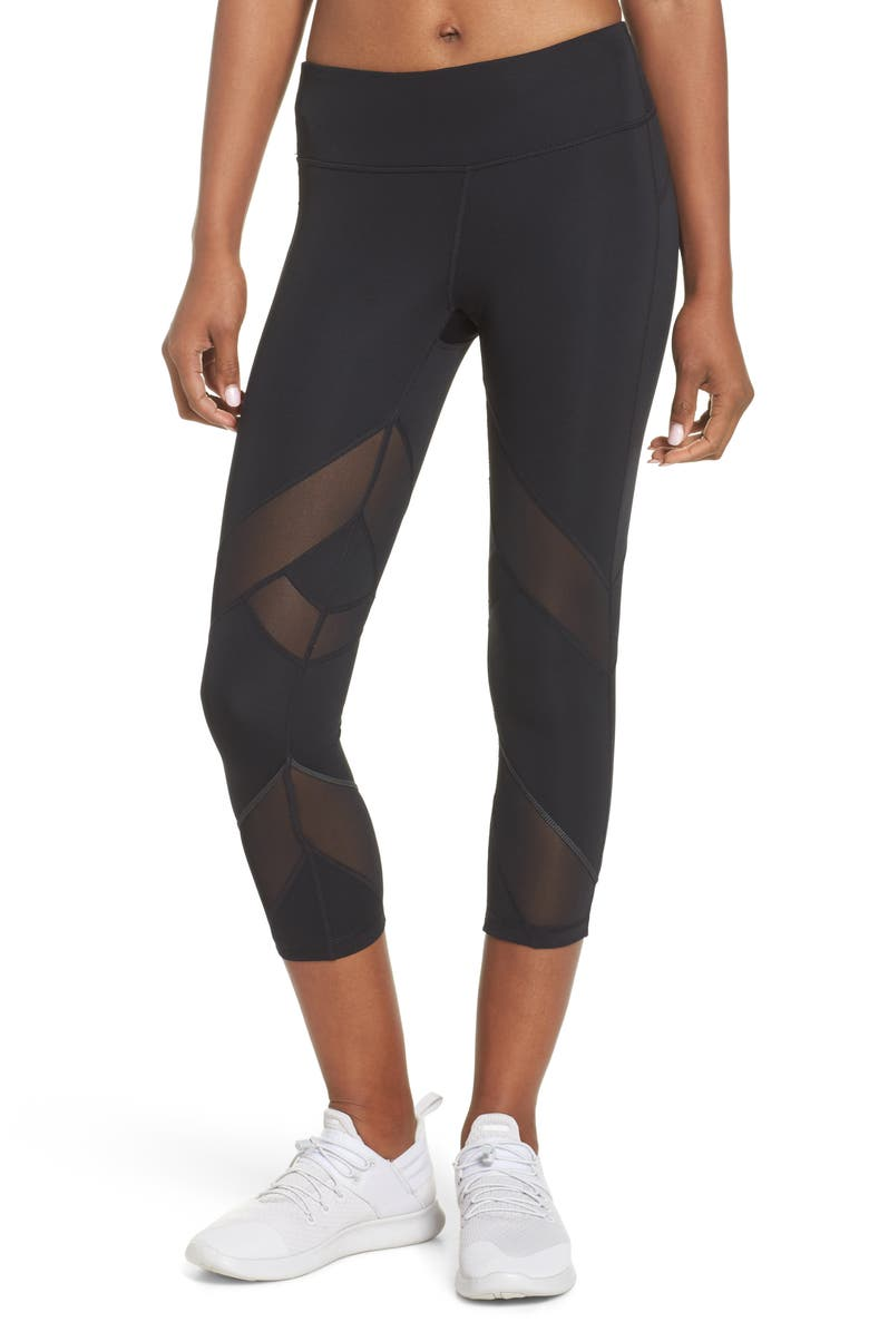 ZELLA Swift II Crop Leggings, Main, color, 001