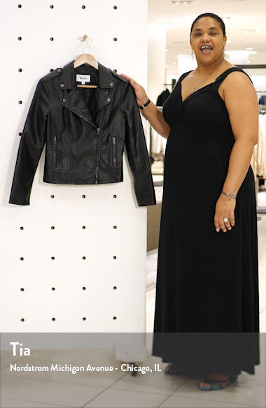 Late Night Faux Leather Moto Jacket, sales video thumbnail