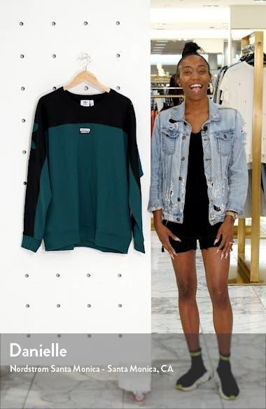 Vocal A Colorblock Crewneck Sweatshirt, sales video thumbnail