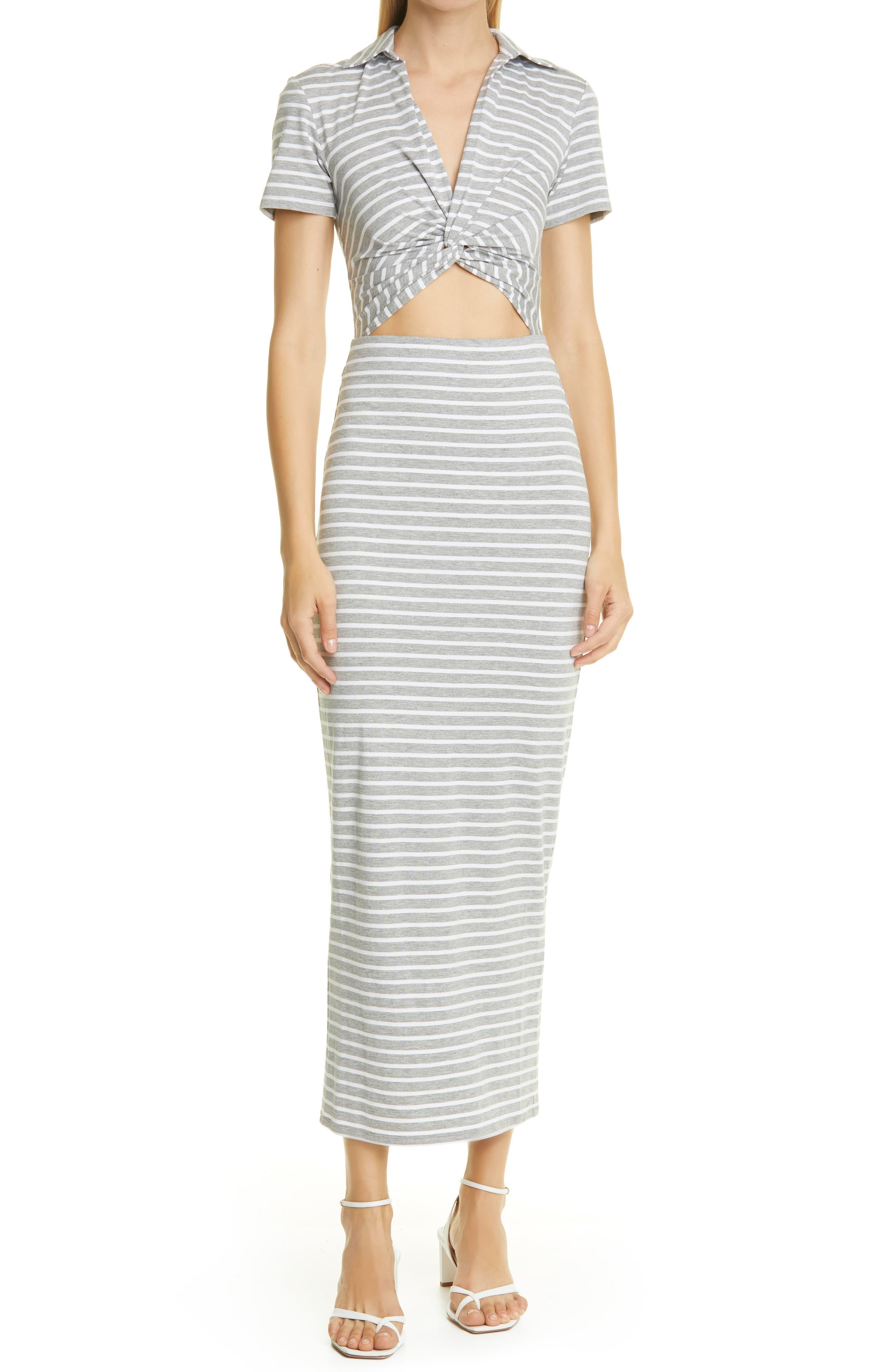 Twist Stripe Dress