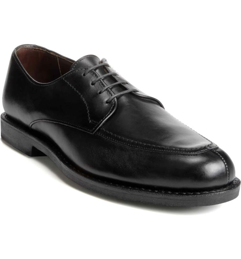 ALLEN EDMONDS MSP Split Toe Derby, Main, color, BLACK LEATHER