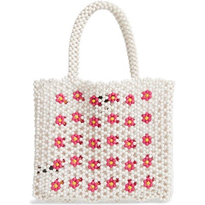 Trouve Beaded Tote Bag - Pink