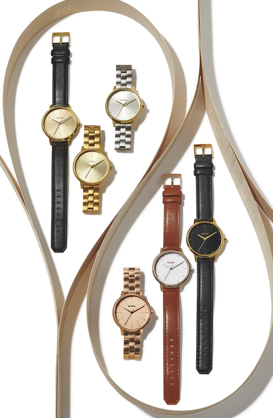 ,                             'The Kensington' Round Bracelet Watch, 37mm,                             Alternate thumbnail 4, color,                             ALL GOLD