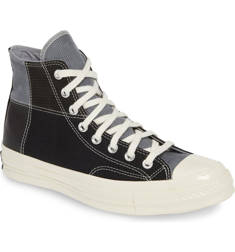 CONVERSE Chuck Taylor<sup>®</sup> All Star<sup>®</sup> 70 High Top Sneaker, Main, color, BLACK/ COOL GREY