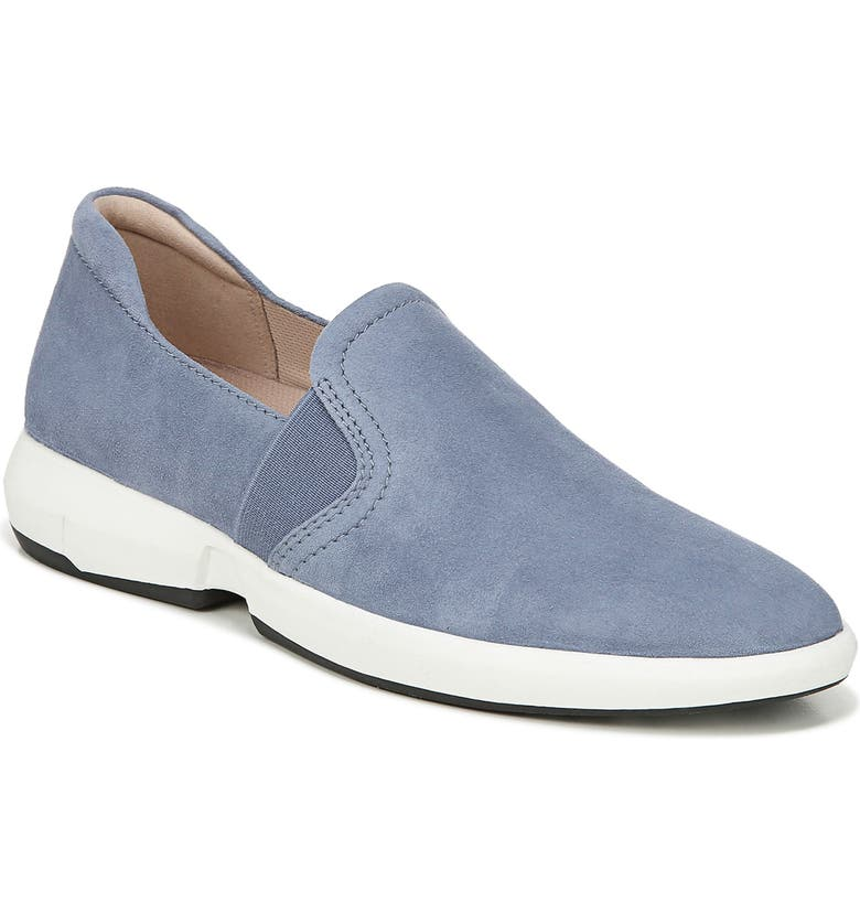 27 EDIT Dionne Slip-On Sneaker, Main, color, SKY BLUE SUEDE