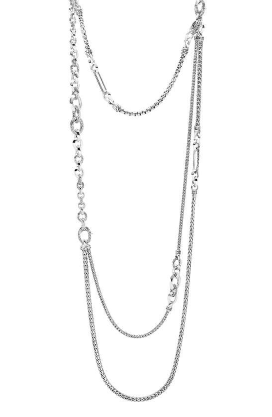 John Hardy CLASSIC CHAIN STERLING SILVER TIERED NECKLACE.