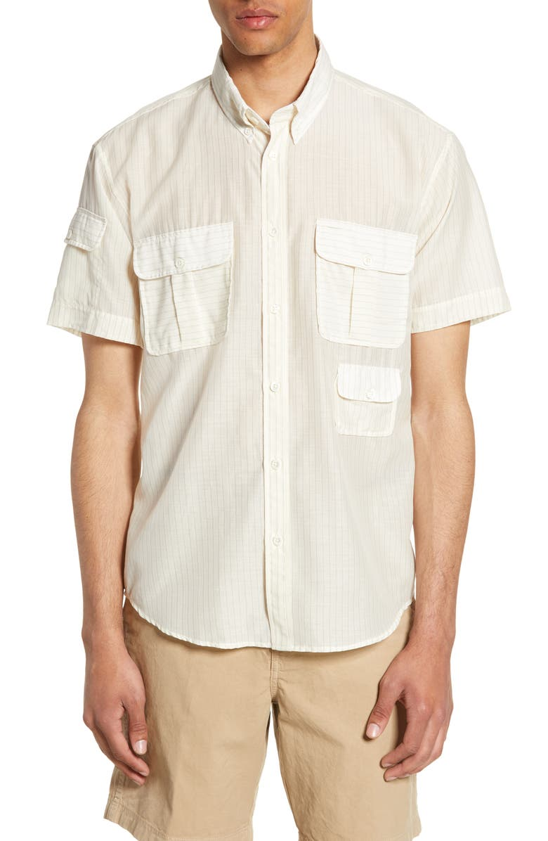 BILLY REID Standard Fit Short Sleeve Utility Shirt, Main, color, 111