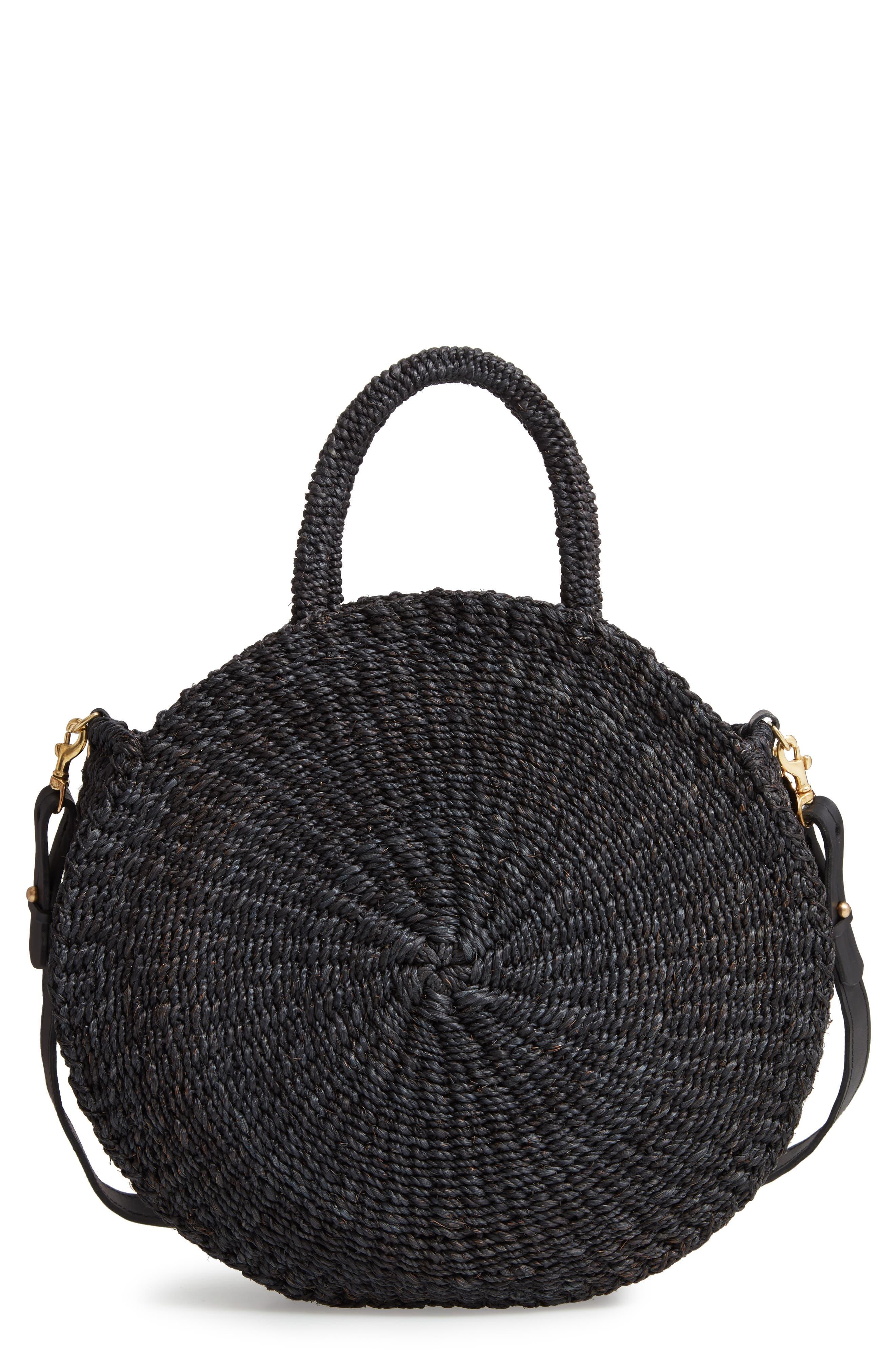 ,                             Alice Woven Sisal Straw Bag,                             Main thumbnail 1, color,                             BLACK