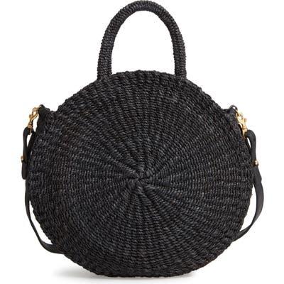 Clare V. Alice Woven Sisal Straw Bag - Black