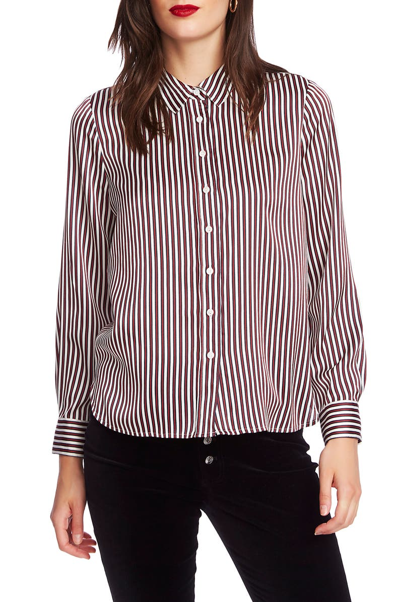 COURT & ROWE Crosby Stripe Button-Up Shirt, Main, color, SOFT ECRU