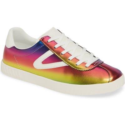 Tretorn Camden7 Rainbow Sneaker- Red