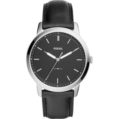 Fossil The Minimalist Leather Strap Watch, 4m
