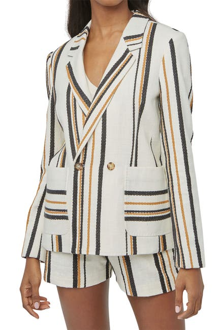 Image of Billy Reid Double Breasted Stripe Jacket