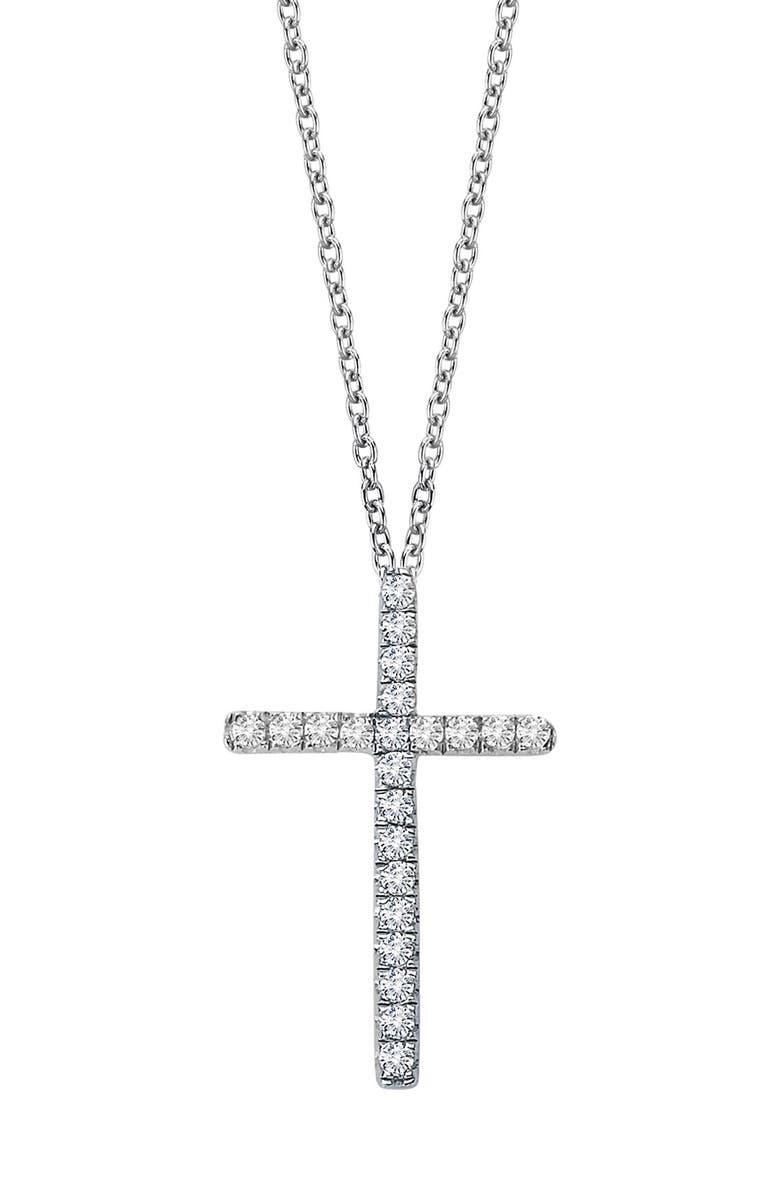 LAFONN Cross Pendant Necklace, Main, color, 040