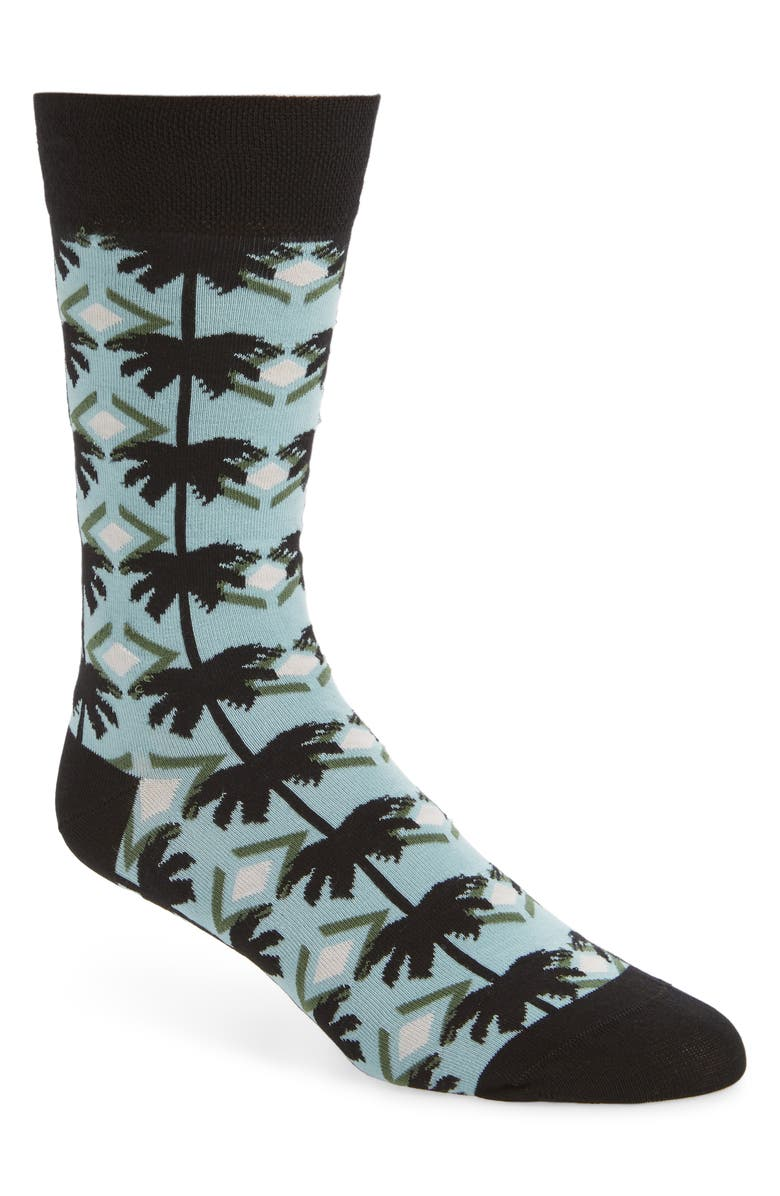TED BAKER LONDON Palm Tree Socks, Main, color, LIGHT BLUE