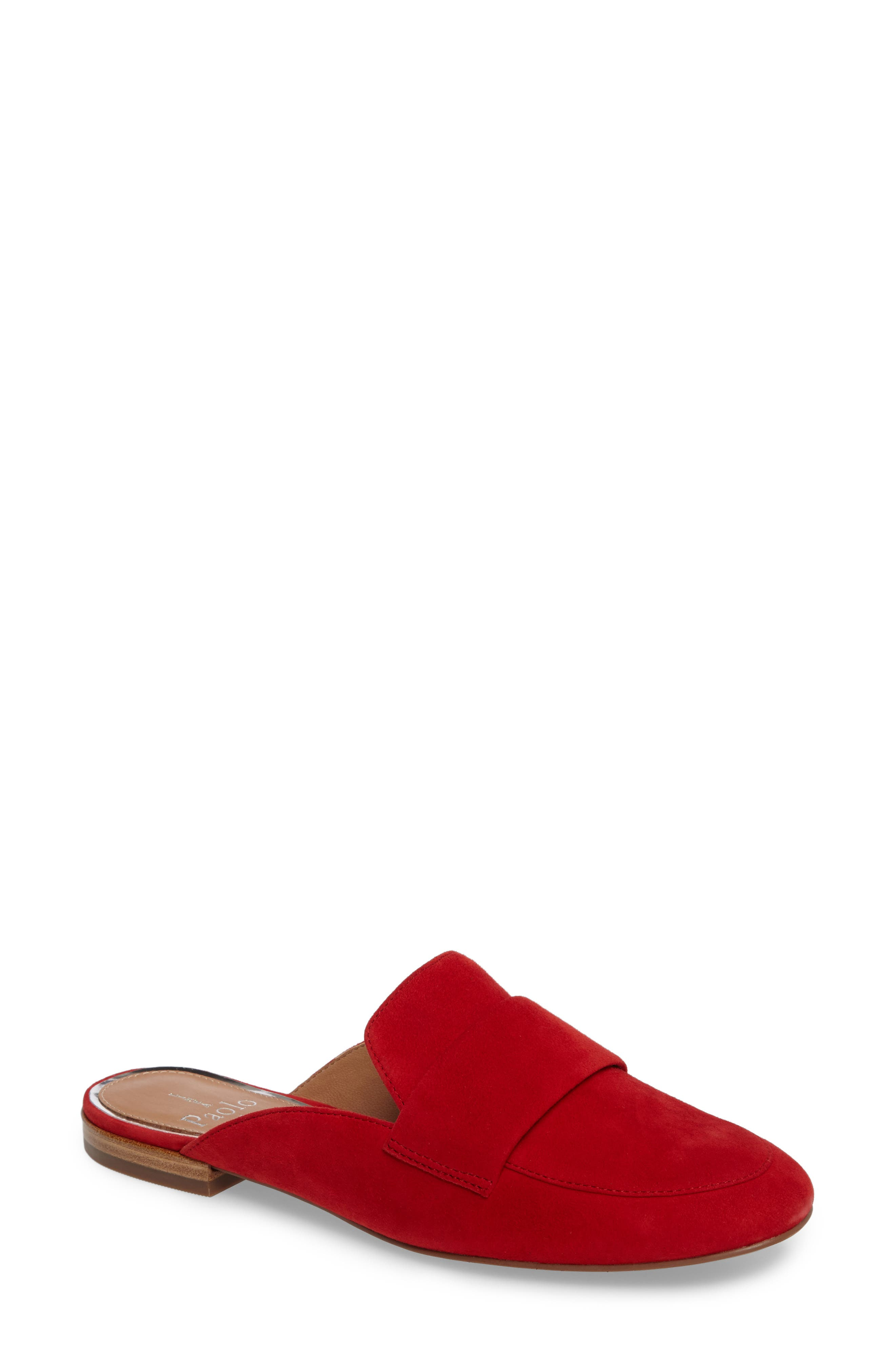 Linea Paolo Annie Loafer Mule, Red